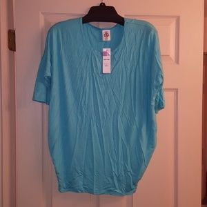 Agnes & Dora dolman tunic aqua blue medium